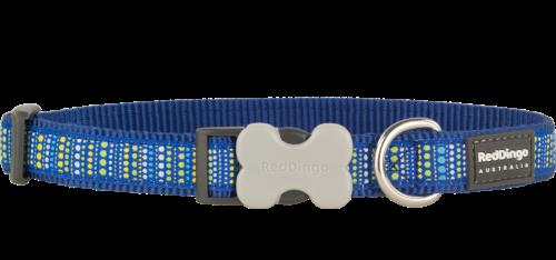 Red Dingo Design Lotzadotz kék kutyanyakörv (20 mm x 31-47 cm) 92145f2fd7
