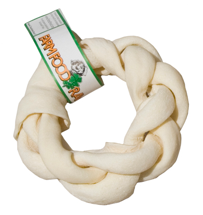 Farm Food Rawhide Dental Braid Donut fogtisztító jutalomfalat (kb 7 cm 65 gr )